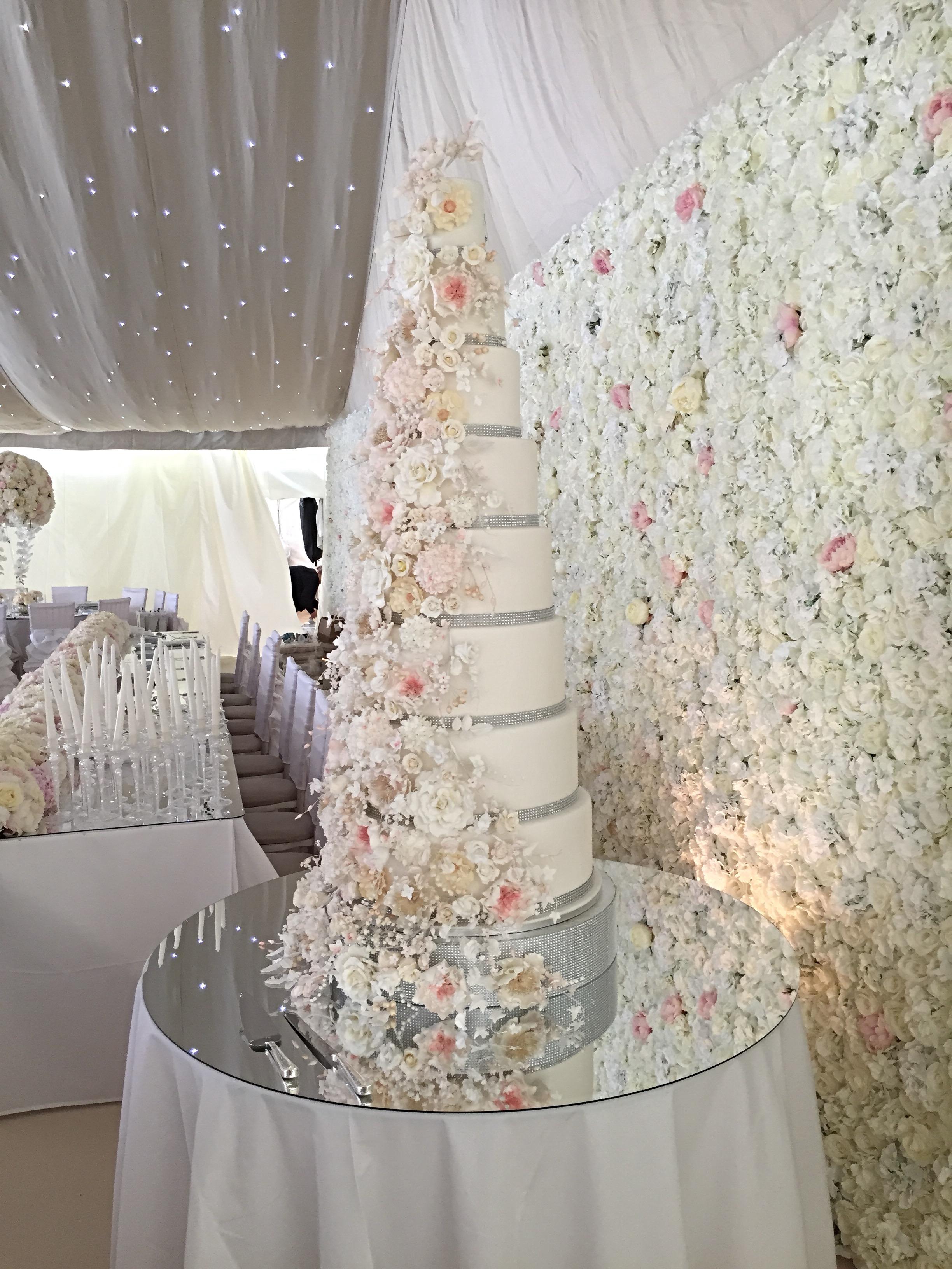 8 Tier Wedding Cake - Fruit Cake Factory